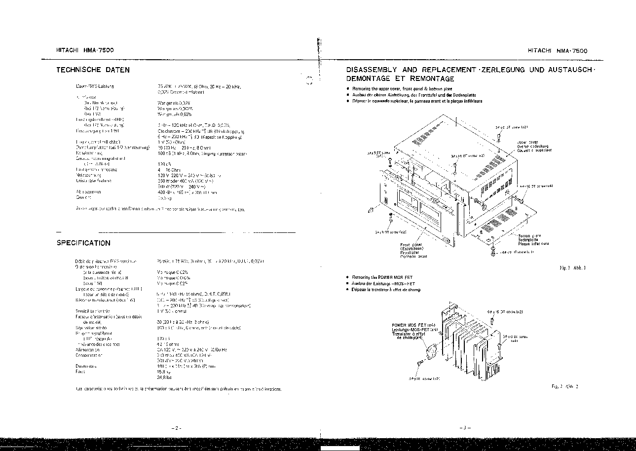Hitachi hma 7500 mkii service manual