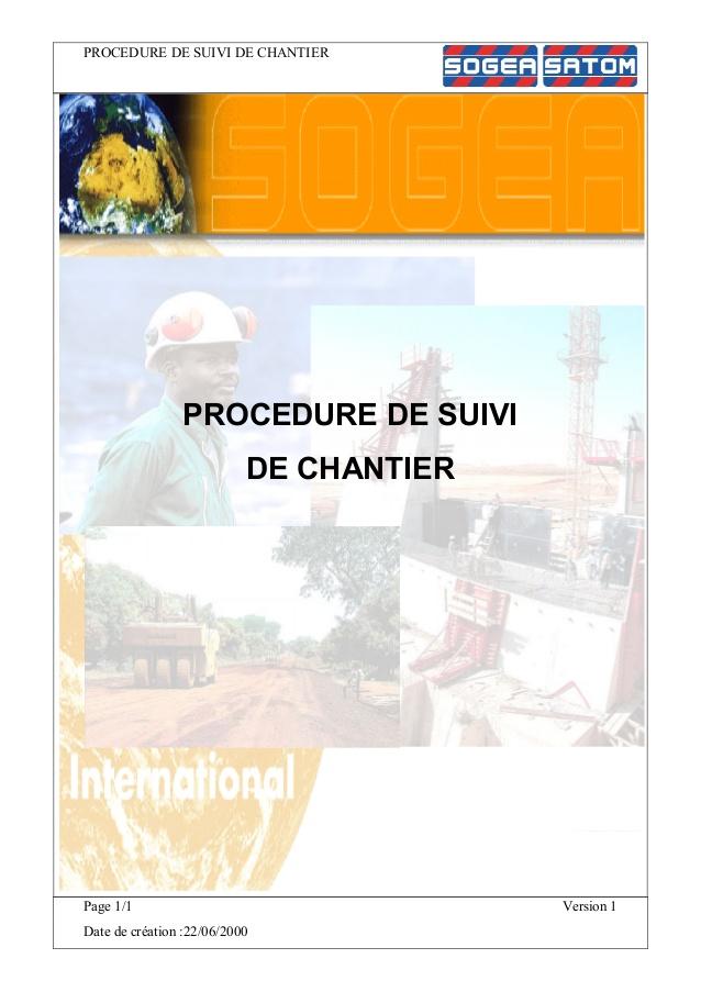 Suivi de chantier construction pdf
