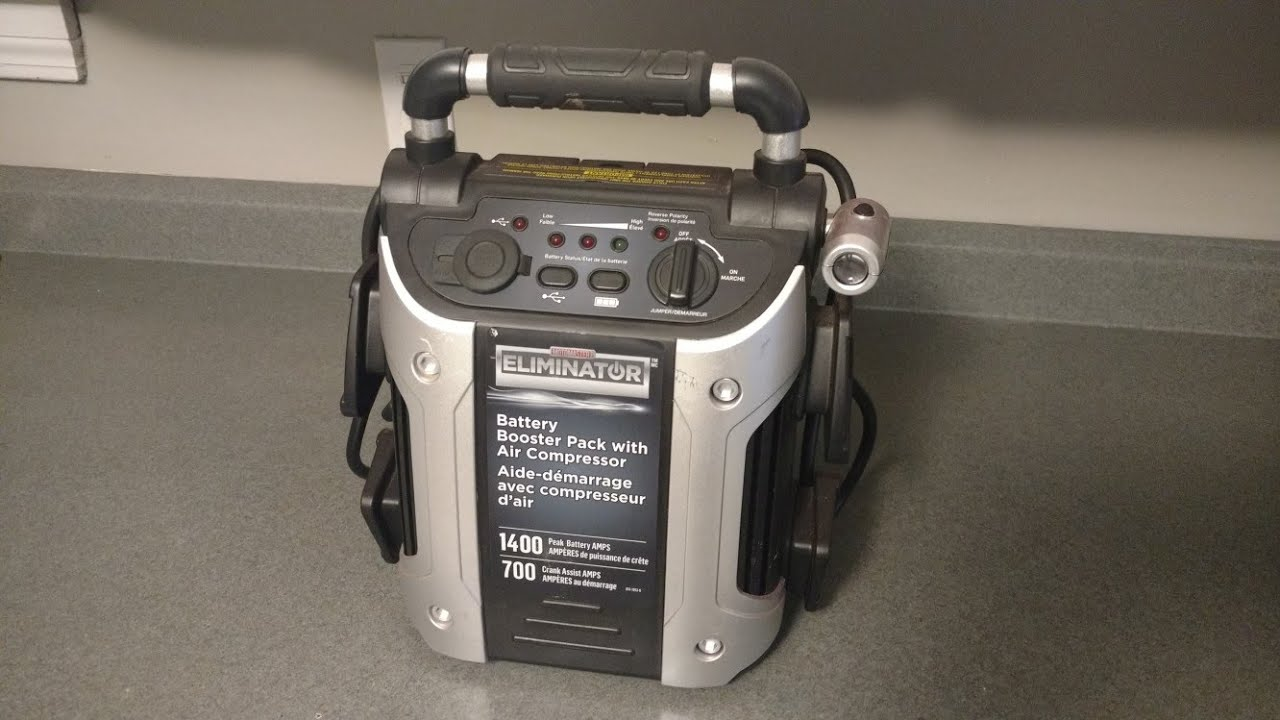 eliminator battery booster pack with air compressor manual