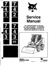 Melroe bobcat 600 service manual