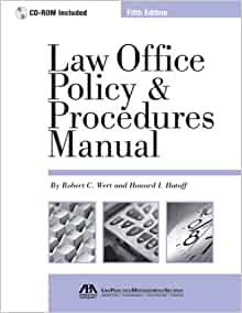 law office policy and procedures manual pdf