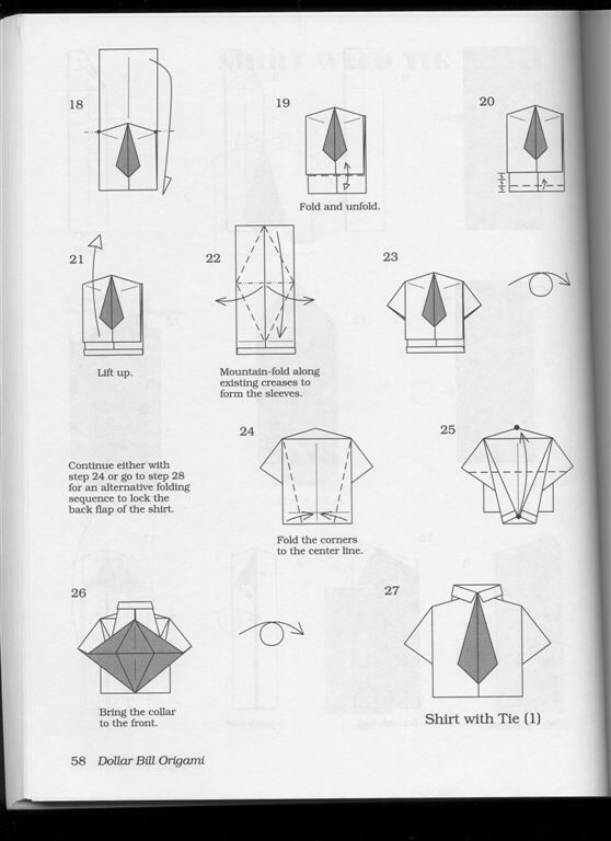 origami shirt and tie instructions