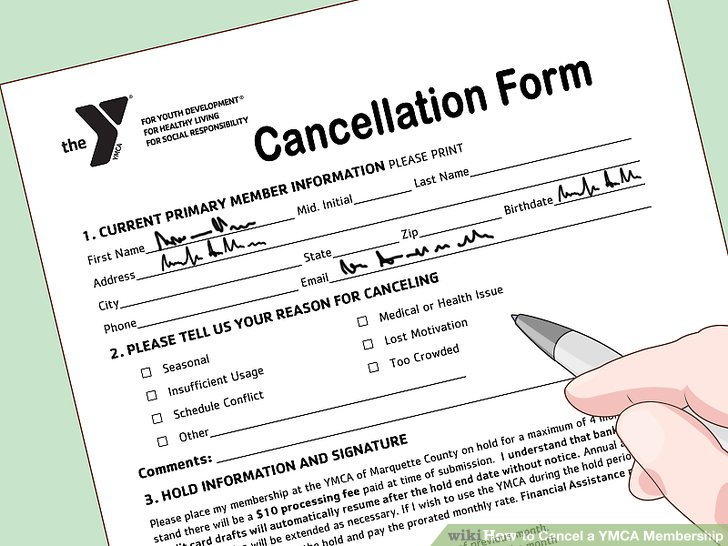 The ymca how to cancel membership