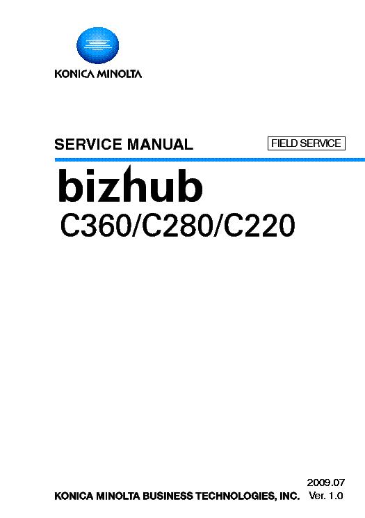 Konica minolta bizhub c224 service manual