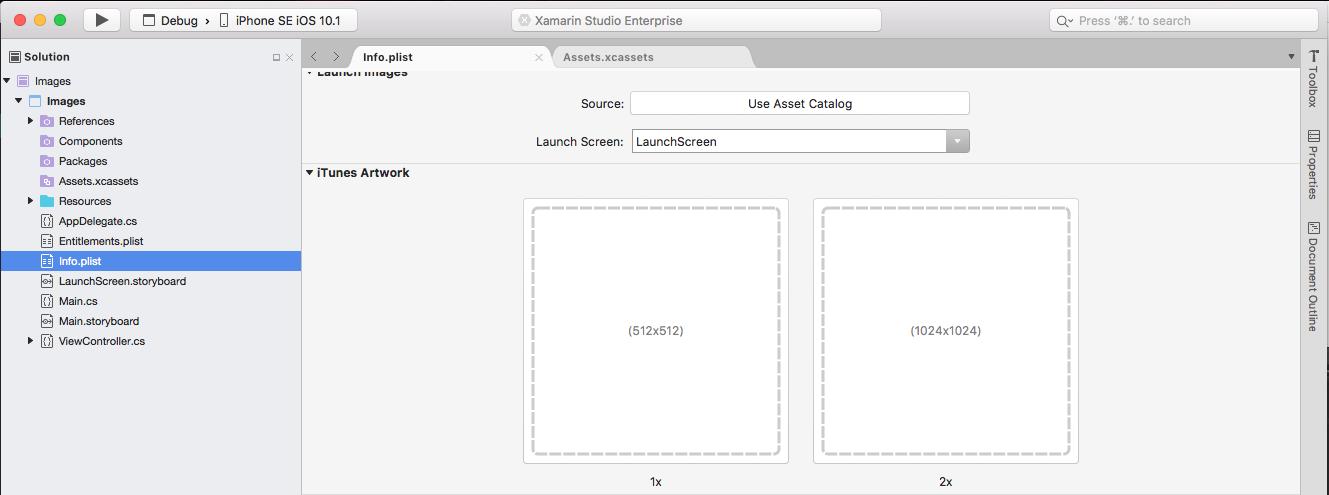 Xamarin ios set application icon