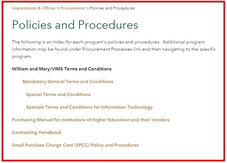 Budget policy and procedures pdf