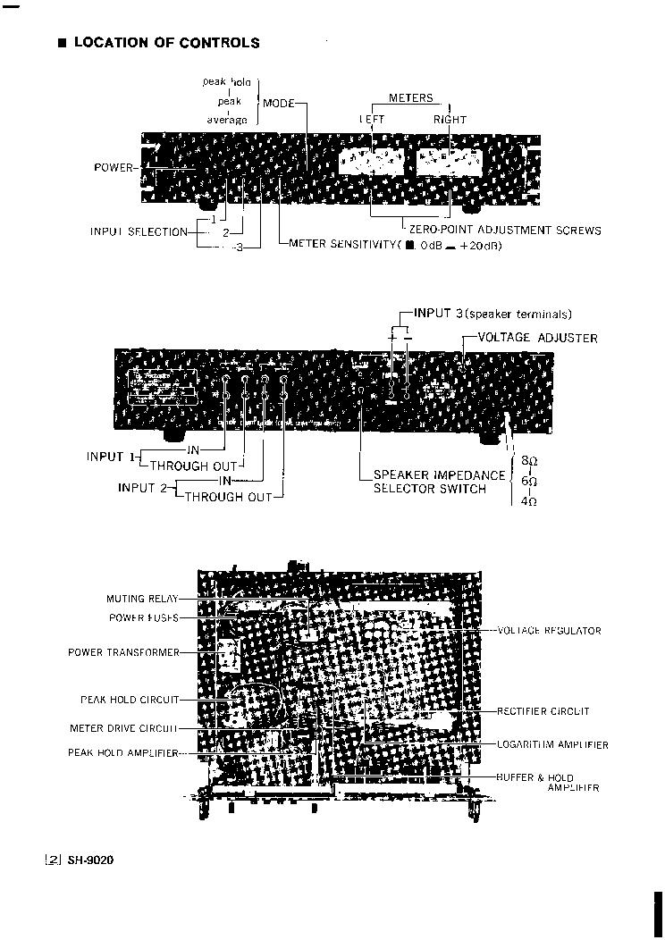 technics sh-9020 service manual