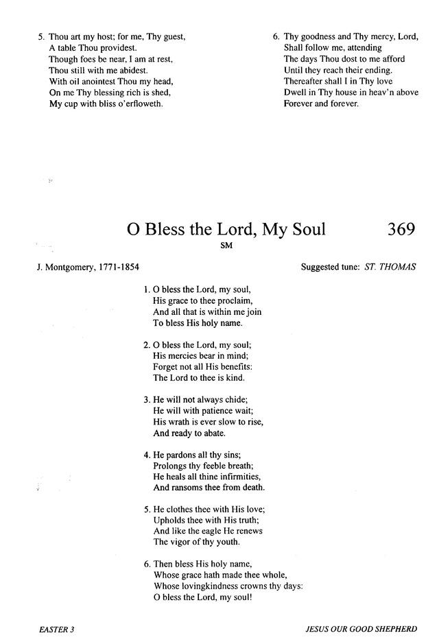 Bless the lord o my soul lyrics pdf