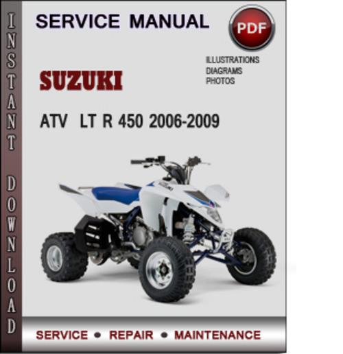 2006 suzuki ltr 450 repair manual free download