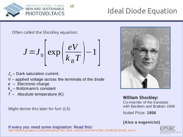 Shockley diode equation derivation pdf