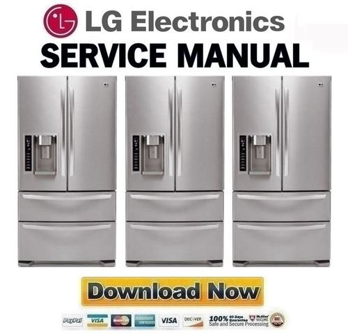 lg refrigerator lfx25960st repair manual