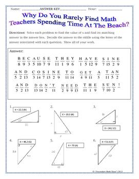 Trigonometry worksheets year 9 pdf