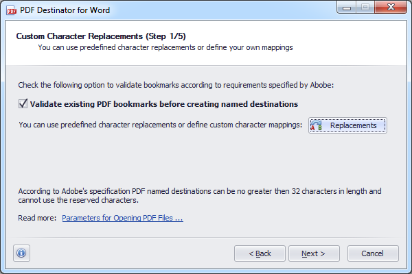 Converting word to pdf error bookmark not defined