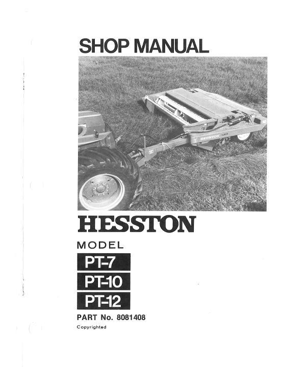 hesston pt 10 parts manual