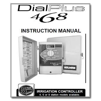 holman 6 station dial ezy irrigation controller manual