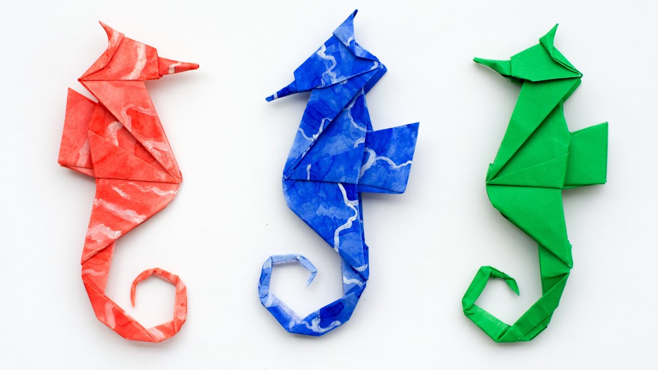 origami seahorse folding instructions