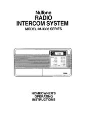 Nutone im 3303 installation manual