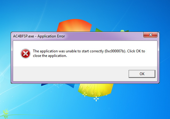 Skidrow game application was unable to start