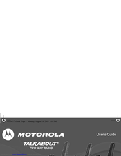 user manual motorola talkabout fr60