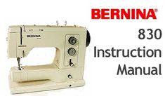 bernina 850 sewing machine manual