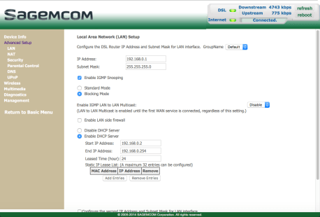 sagemcom fst 3686 user manual