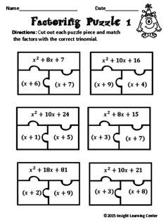 differentiated instruction factor trinomials
