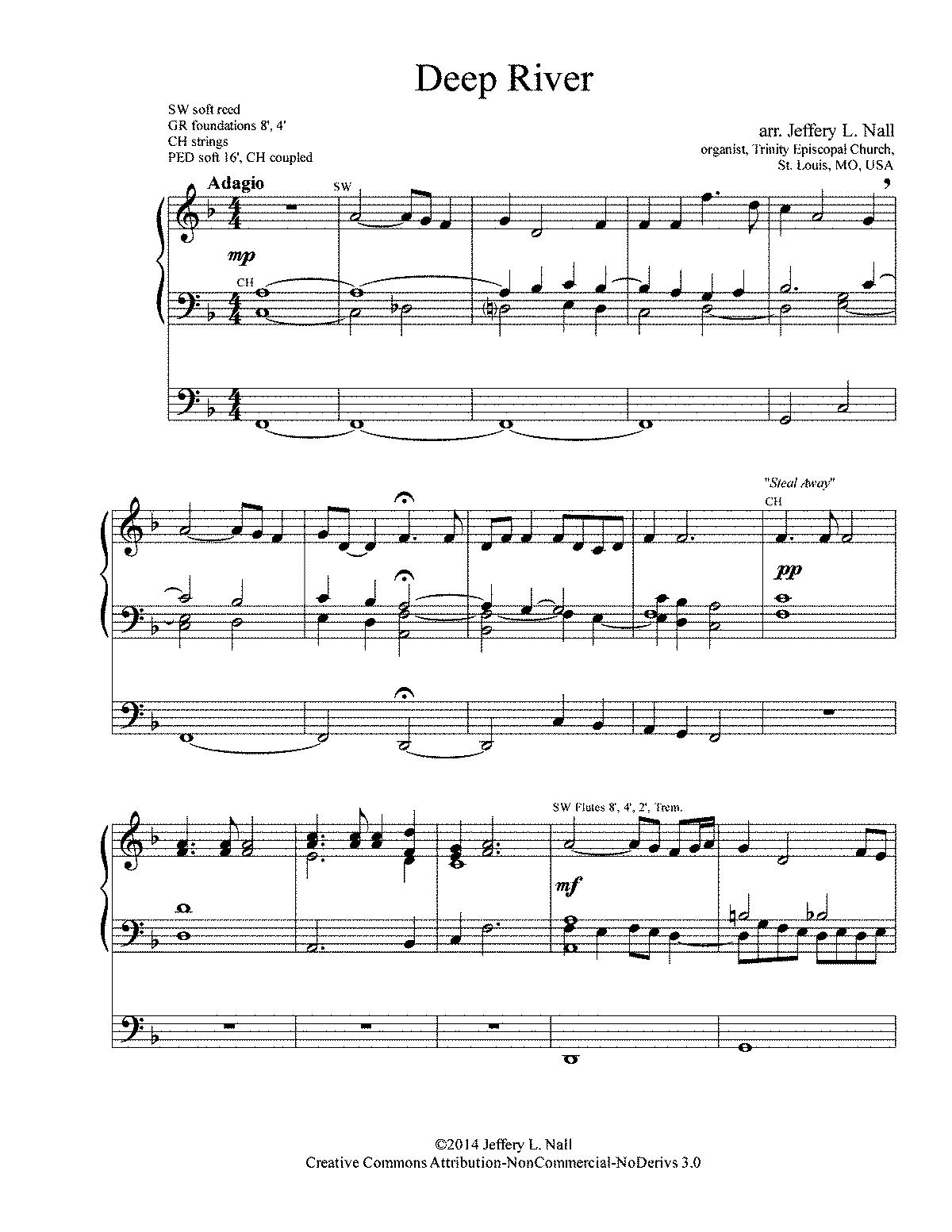 Deep river sheet music pdf