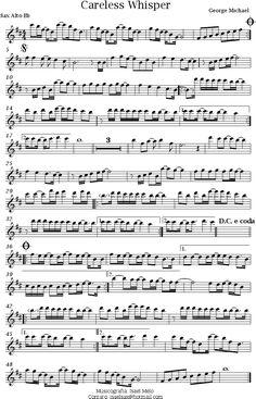 Careless whisper sax sheet music pdf chords