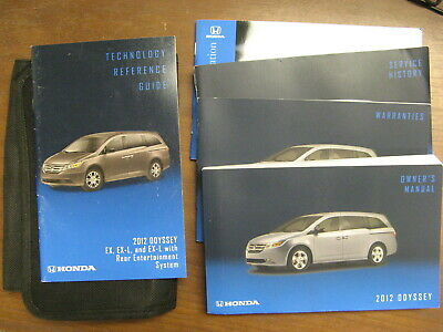 2012 honda odyssey shop manual
