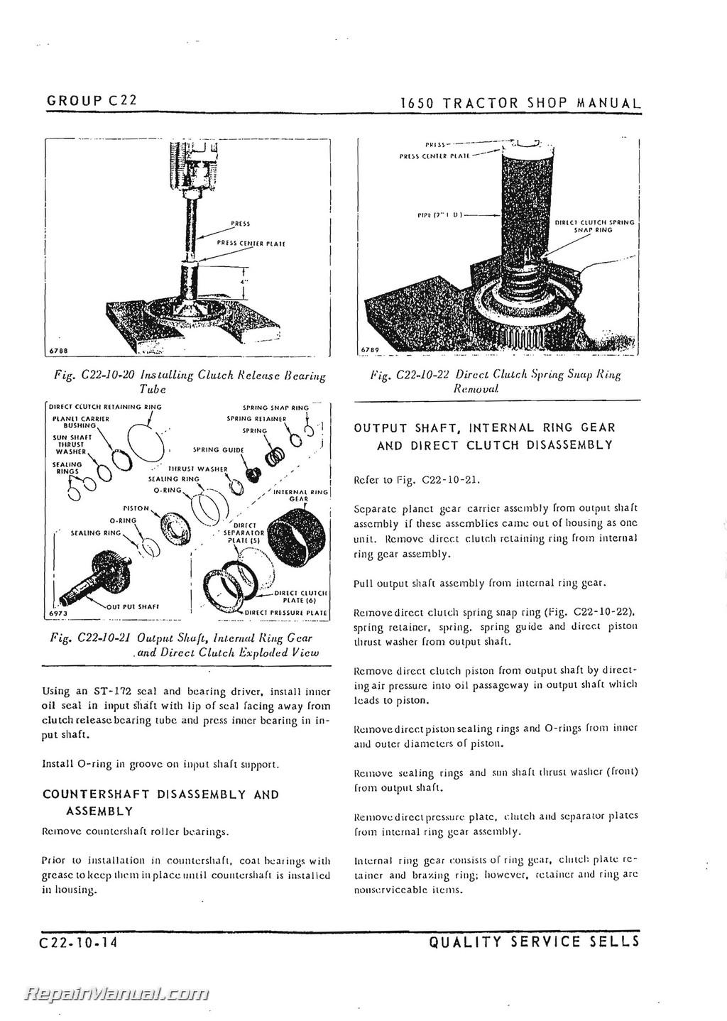 Oliver 1650 repair manual