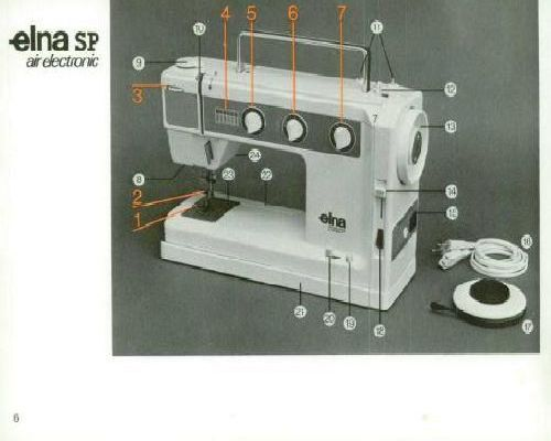 elna sp sewing machine instruction manual
