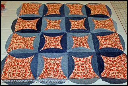 denim circle rag quilt instructions