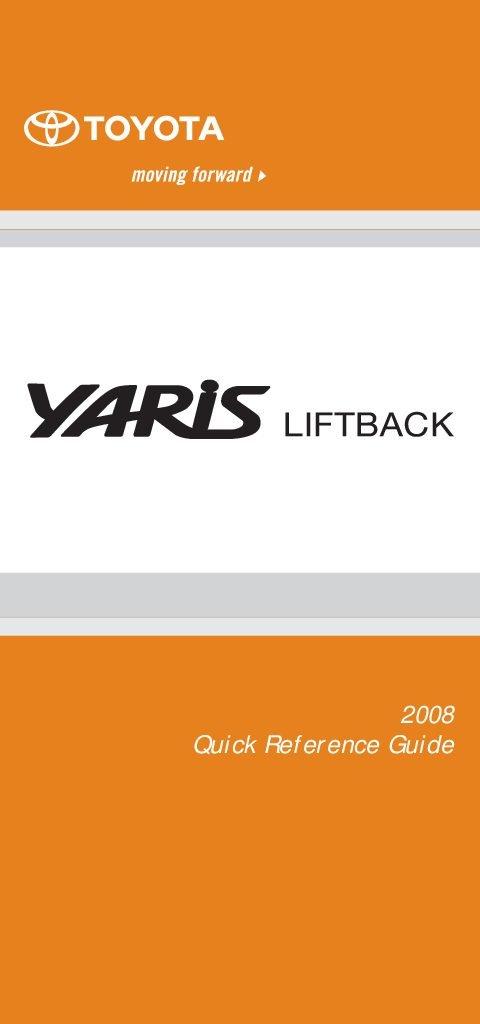 2008 toyota yaris repair manual