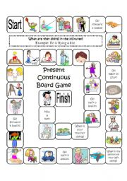 Present perfect continuous board game pdf