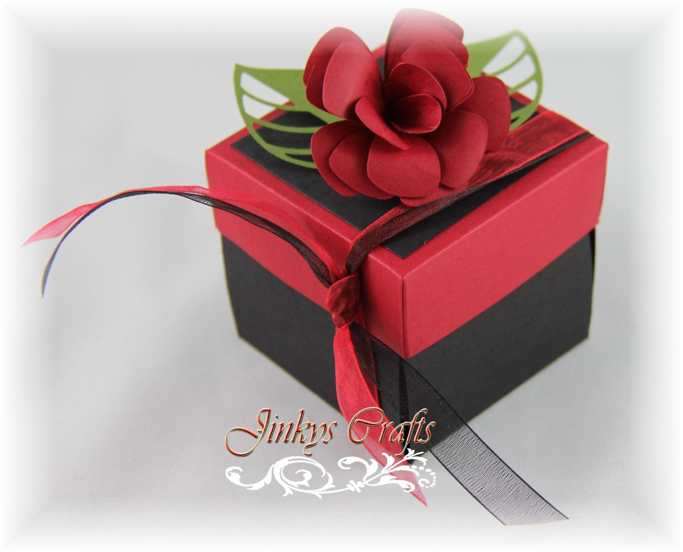 exploding box invitation