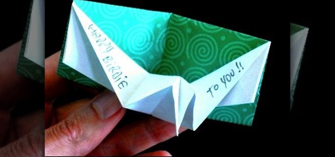 Origami birthday card instructions