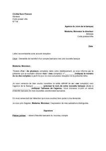 Demande de cloture de compte bancaire pdf