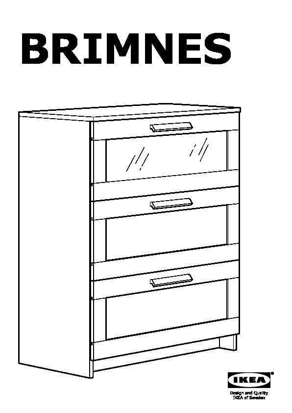 ikea brimnes 3 drawer dresser instructions