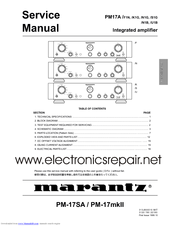Marantz pm 50 service manual
