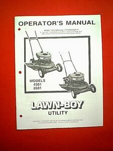 lawn boy model 10671 owners manual