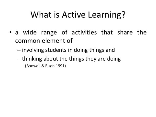 active learning instructional strategies