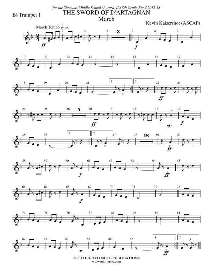 Trumpet fanfare k kaisershot pdf