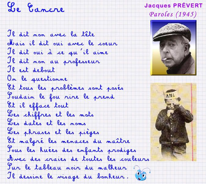 Jacques prevert poems in english pdf