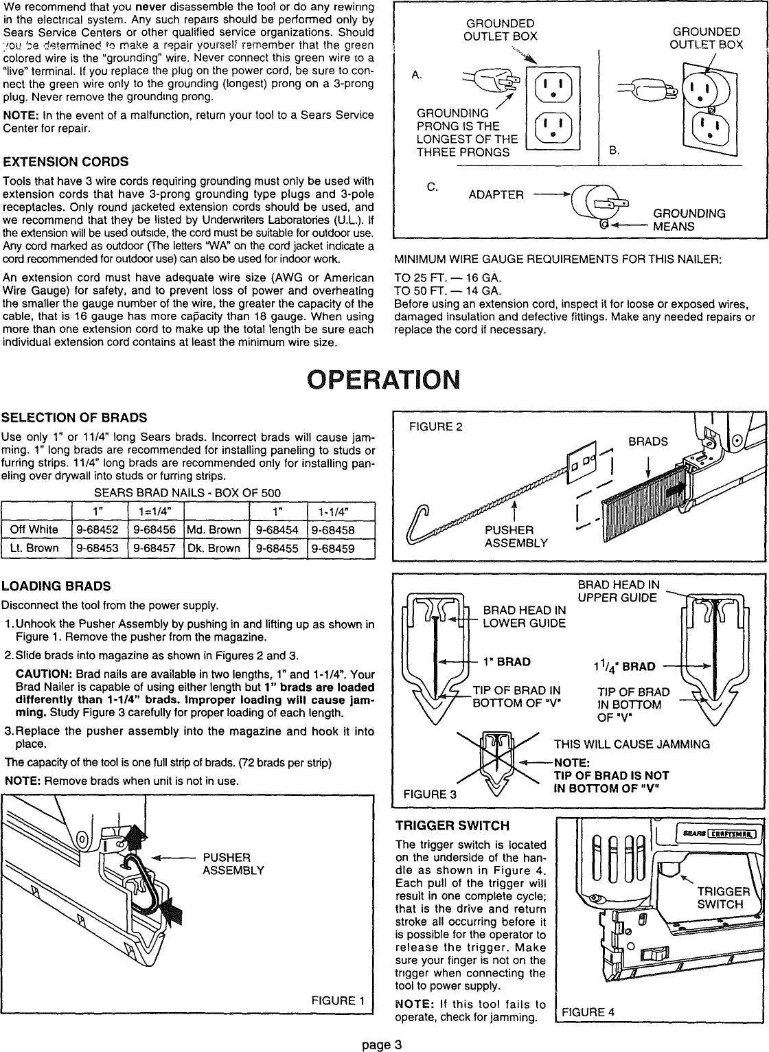 Craftsman electric brad nailer manual