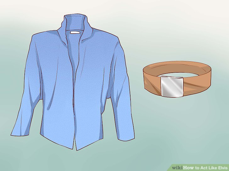 instructions on how to make a belt like elvis wore