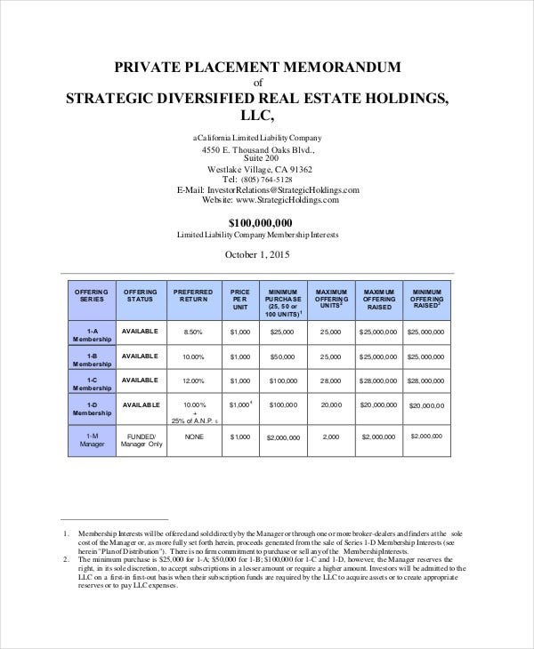 Valuation memorandums private equity pdf