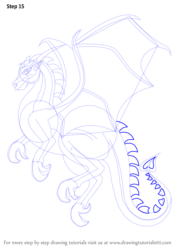 Step by step instructions on how to draw a dragon