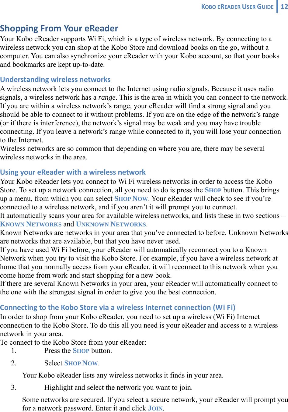 Kobo wireless ereader user manual
