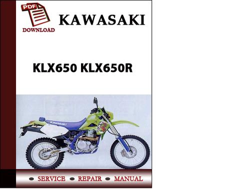 kawasaki klx 650 service manual