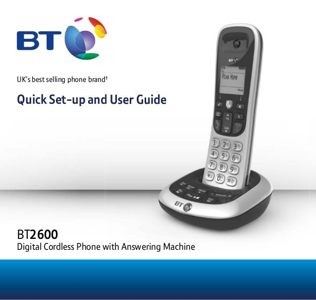 Bt 2200 cordless phone manual